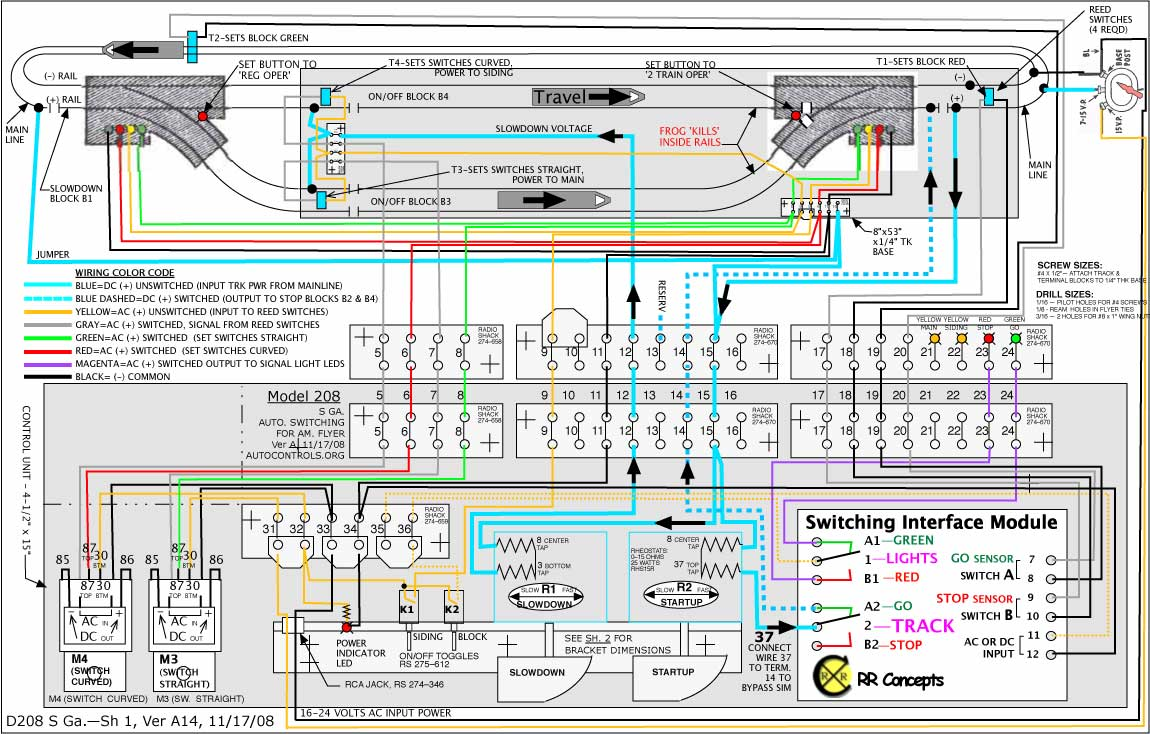 242c 3 Trains 2 Trk S Gauge Autocontrolsorg Interface Module Wiring Diagram Figure 5 For Train Operation The Rr Concepts Sim Switching Is Shown On Lower Right